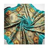 90x90cm Quadratischer Schal für Damen 100% Polyester Nachgeahmte Seide Satin Kopftuch von MAXGOODS, D