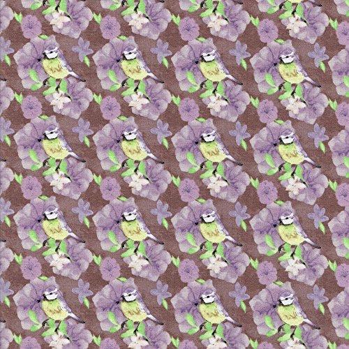 Floreale Acquerello, colore: Lilla coordinamento in tessuto libertà-100% cotone-tessuti per patchwork e quilting Stampe E Colori coordinati inglese (prezzo al metro/Quarto) Lilac / Bird