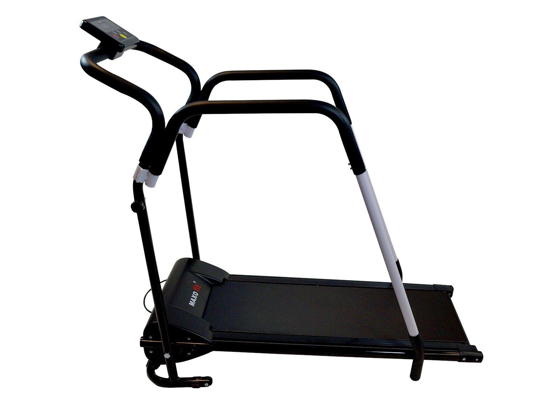 MAXOfit® Tapis roulant Elettrico Professionale Deluxe MF-16 per Riabilitazione e camminiate rilassanti con maniglioni e… 1 spesavip