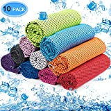MENOLY 10 Pack Cooling Towel, Ice Towel Microfiber Towel Soft Breathable Chilly Towel