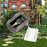 Prevently Schlüsselkasten Wand-Schlüsselbox aus Simulationsstein Neuheit Key Rock Gefälschte Rock Künstliche Stein Verstecken Ein Ersatzschlüssel Versteck Key Box/Schlüsselbox/Schlüsselschrank (Grau)