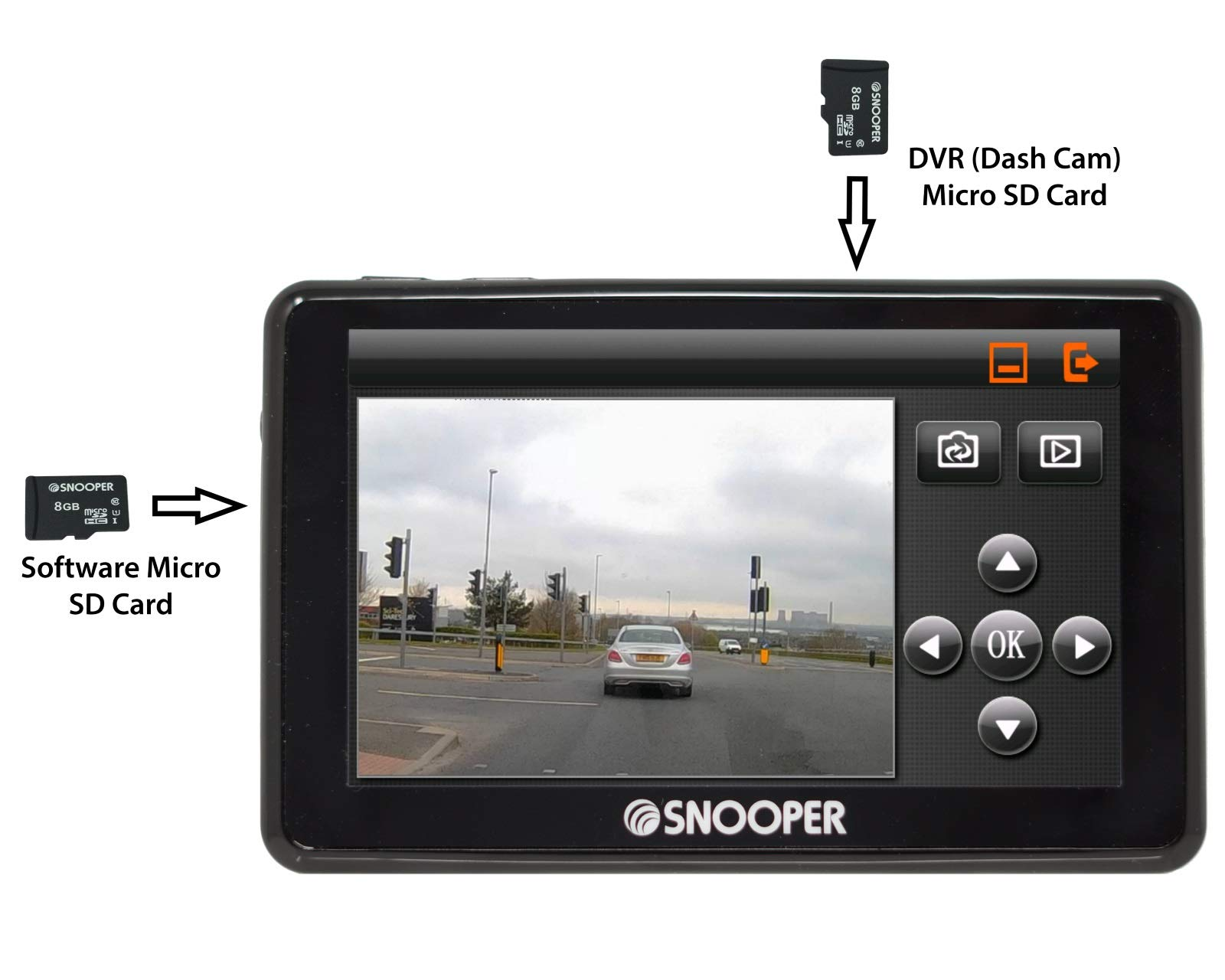 Snooper-My-Speed-DVR-G2-Speed-Limit-und-Kamera-Alert-System-mit-Dash-Cam