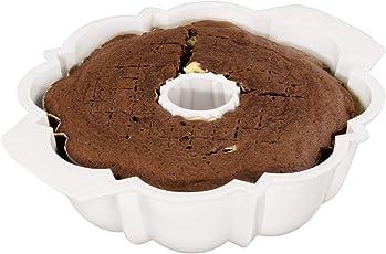 Xavax Mikrowellen-Backform Gugelhupf (für Kuchen oder Pudding, spülmaschinengeeignet) weiß