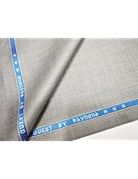 Raymond Men's Unstitched Solid Trouser Fabric 1Pc Trouser Length, 1.2Meter(Grey and Blue)