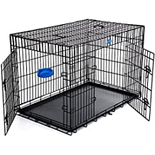Songmics Jaula metálica para perros Transportín plegable para mascotas (XXL 122 x 76 x 81 cm)