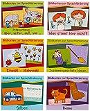 Bildkarten zur Sprachförderung '17 Paket: Reime / Einzahl - Mehrzahl / Zusammengesetzte Nomen / Was stimmt hier nicht? / Silben / Präpositionen