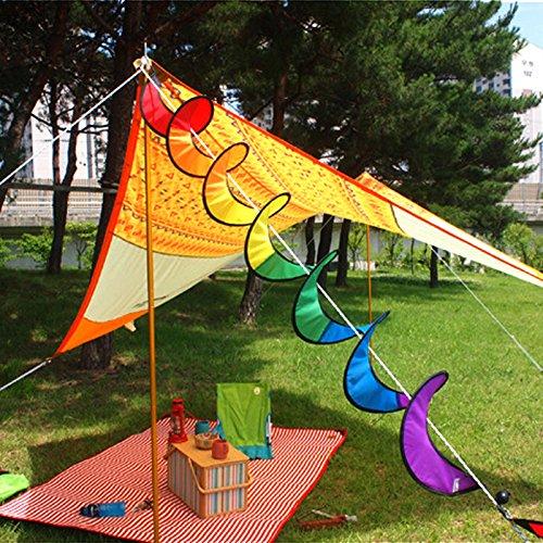 Etbotu Camping Zelt Pinwheel für Garden & Home Dekoration, Rainbow Spirale Windmühle Wind Spinner Colorful Pinwheel   Garten > Pavillons   Etbotu