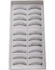 Electomania® False Eyelashes,Handmade Natural Regular Long Soft Fake Eye Lashes Extension for Makeup Cosmetic (10 Pairs)