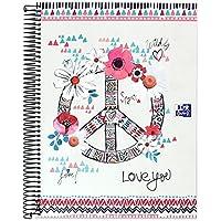 Oxford Boho Chic - Cuaderno microperforado, 120 hojas