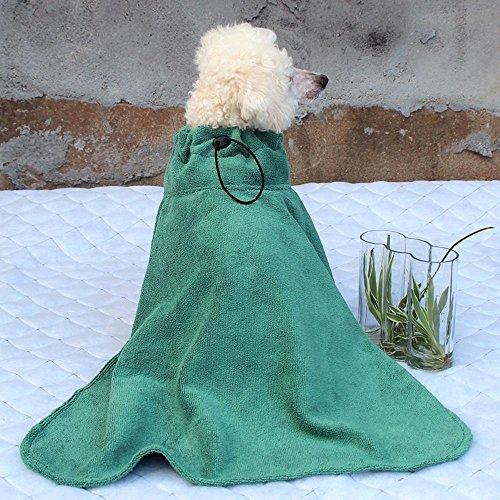 Pet Bademantel, Hunde- und Katzenbademantel, schnell trocknender Microfaser-Bademantel , green , m
