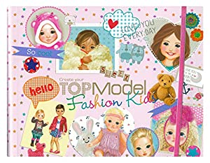 Despacho de 7981 - Crea tu TopModel Fashion Kids Coloring Book, alrededor de 27,5 x 22 x 1,5 cm