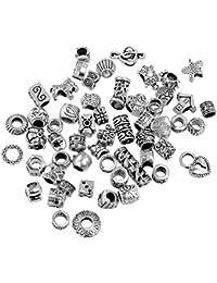 BOOLAVARD 20 x mixtes Charms argent tibétain pour adapter bracelets de charme de style Pandora.