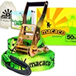 Macaco 16 Metre Slackline Set with Bo...