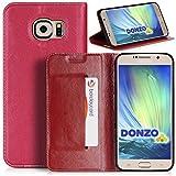 DONZO Tasche Handyhülle Cover Case für das Samsung Galaxy S6 / SM-G920 in Rot Wallet Pocket als Etui seitlich aufklappba