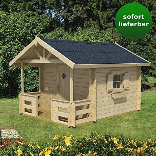 Preisvergleich Produktbild Kinderspielhaus G30 inkl. Fußboden - 28 mm Blockbohlenhaus, Grundfläche: 4,60 m², Satteldach