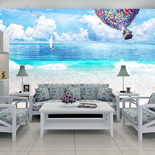 Palloni Ad Aria Calda.Chan Mei 3d Moderno Minimalista Onde Dell Oceano Sullo Sfondo Tv