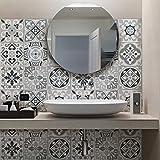(32 PIECES) carrelage adhésif 15x15 cm - PS00094 - Medina - Adhésive décorative à carreaux pour salle de bains et cuisine Stickers carrelage - collage des tuiles adhésives