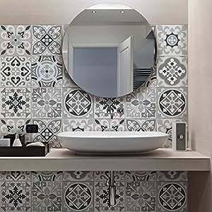 72 pieces carrelage adh sif 10x10 cm ps00094 medina for Carrelage salle de bain petit carreaux