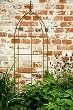 KUHEIGA Rankhilfe, Rankgerüst, Rost, Höhe: 200 cm, Volleisen Rankgitter halbrund