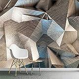 Liwenjun Tapete 3D Dreidimensionale Abstrakte Geometrische Gitterwand Wohnzimmerdekoration, 200 * 140Cm