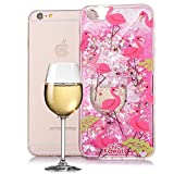 BtDuck iPhone 6 Plus Hülle Rosa,iPhone 6 Plus/6S Plus Hülle Silikon Transparent Flamingo, Electroplating Mirror Glitzer Liebe Handyhülle SchutzHandyhülle Mirror Case Cover Cover Tasche Etui - Rosa