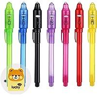 7Pcs Penna Magica Con Luce Invisibile Inchiostro Penne Magiche Simpatico Trasparente La Pennarello Ultravioletti…