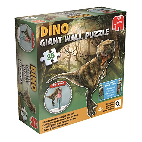 DINO gigante T-Rex rompecabezas pared (35-Piece, Multi-Color)