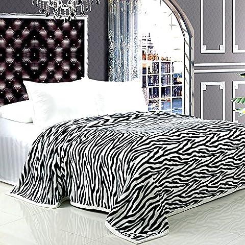 BDUK Coperte di flanella strisce della zebra