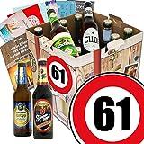 Geburtstagsgeschenke für Männer zum 61. | Biergeschenk Box mit Bieren aus Deutschland | GRATIS Bierbuch, Geschenk Karten und Bier-Bewertungsbogen | Bierset und Biergeschenk | Individuelle Geschenk-Box - 61 | Biergeschenke Geschenkideen. Besser als Bier selber machen oder selbst brauen Geschenk 61 Geburtstagsgeschenke Geschenke für Männer Geschenkidee Geschenk Idee Geschenk für Freund 61 Präsentkorb 61 Geburtstag Geschenken Geschenke für Männer zum Geburtstag 61 Männer