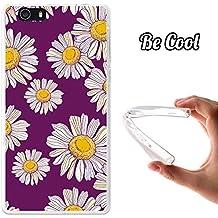 Becool® Fun - Funda Gel Flexible para Elephone M2, Carcasa TPU fabricada con la mejor Silicona, protege y se adapta a la perfección a tu Smartphone y con nuestro exclusivo diseño. Dibujo margaritas