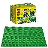 LEGO Classic 2er Set 10708 10700 Kreativ-Box Grün + Grüne Grundplatte