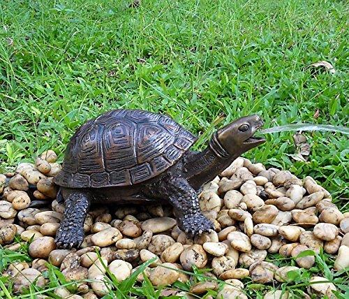 Wasserspeier Schildkröte, Bronzeguss