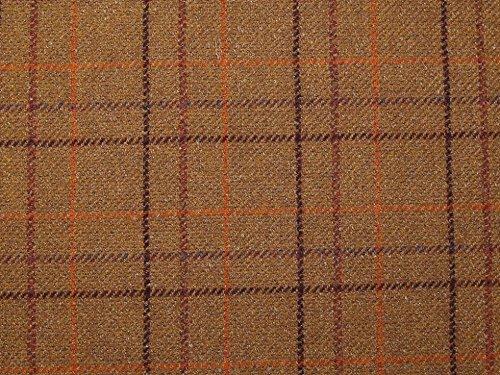 Minerva Crafts Englisch Wolle Blend Plaid Beschichtung Kleid Stoff Rost-Meterware (Wolle-beschichtung Stoff)