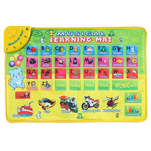 Goolsky Apprendimento musicale colorato alfabeto stuoia Flash musica tappeto coperta bambini sviluppo tappeto quattro modalità di apprendimento con musica suono educativo giocattolo 74 * 49 CM