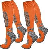 normani 2 Paar Thermo Ski-Socke, atmungsaktiv und schützend Farbe N Orange Größe 39/42