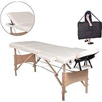 MC Star Table de Massage 3 Zones Bois Léger Pliante Lit de Massage Pliable Professionnelle Cosmetique Reiki avec…