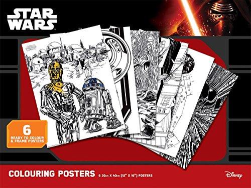STAR WARS Classic Colouring Poster zum Ausmalen im 6er Pack, je 30x 40cm groß