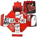 DecuT 3 Layered Romantic Handmade Explosion Box for Birthday Love Explosion Box Gift for Birthday Explosion Box Kit