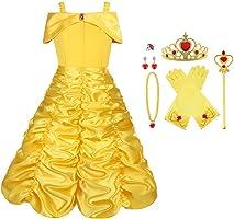 Vicloon Elsa Frozen Costume, Set da Principessa Elsa Corona Bacchetta Guanti Treccia,Ragazze Elsa Principessa delle Neve...