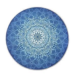 Badezimmerteppich Rund Blau Deine Wohnideen De