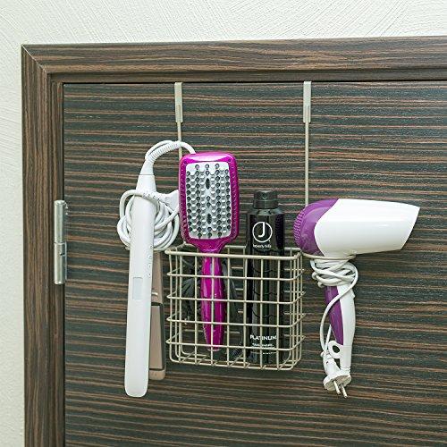 Tatkraft Hug Caddy Organizer Tür Badezimmer zum Hängen für Haartrockner Toilettenartikel Zubehör Stahl (Hängen Haartrockner)