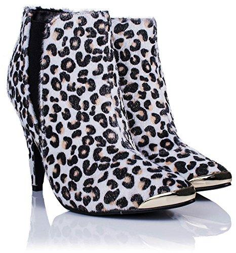 Bottes femme Saute Blanc Blanc léopard Classiques Styles wFp4O