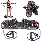 Linlook Push-up bräda hopfällbar push-up bräda med handtag och dragsko, multifunktionell träningsutrustning hem för arm rygg