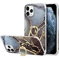 Sitthyw Hülle iPhone 11 Marmor Handyhülle mit Halter Funktion Weiche TPU Stoßfest Schutzhülle Glitzer Marmor Muster 360…