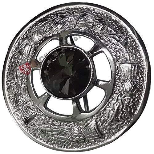 Schottische Tartan-plaid (Schottisch Kilt Plaid Brosche Verschiedene Steine Chrom 2