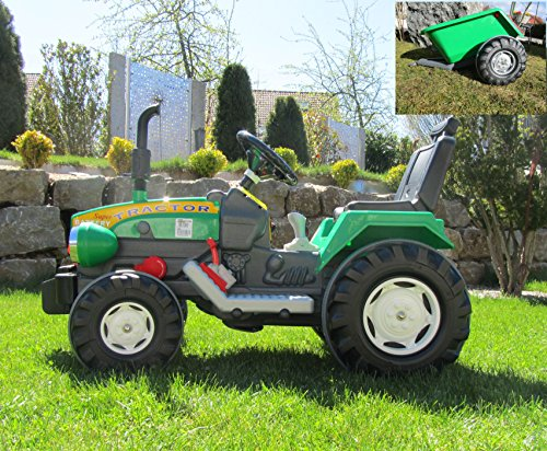 *Super Traktor mit 2 Motoren je 12V Traktor mit Anhänge Fahrzeug*