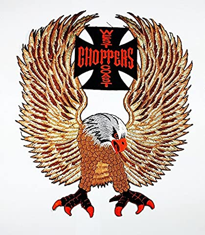 Big West Coast Choppers Eagles Outlaw MC HD Club Lady Patch Weste/Jacke Biker Patch Motorrad Fahrer Biker Tattoo Jacke T-Shirt Patch Sew Iron on gesticktes Schild (West Coast Choppers Adler)