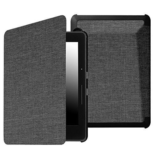 Kindle Voyage Hülle Case - Fintie Ultra Slim Lightweight Schutzhülle Tasche Cover mit Auto Schlaf / Wach Funktion Standfunktion nur geeignet für Kindle Voyage, Stoff dunkelgrau