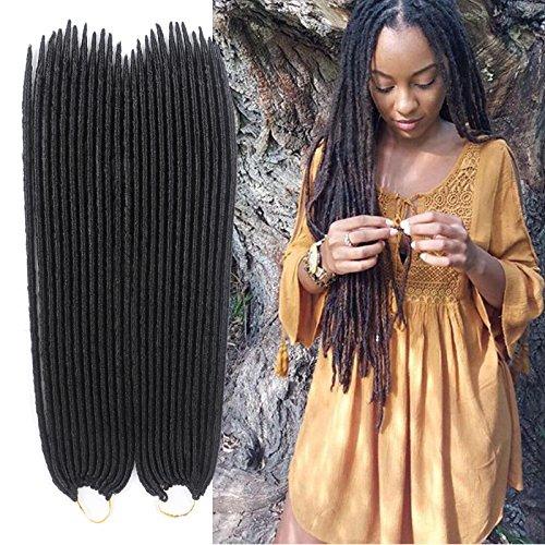 6pezzi faux locs crochet capelli dreadlocks braids havana mambo twist crochet braid capelli sintetici dread hair extensions
