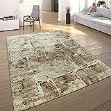 Paco Home Designer Teppich Modern Trendig Meliert Steinoptik Mauer Muster Wohnzimmer Braun, Grösse:200x280 cm